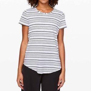 Lululemon Love Crew III T-shirt Stripe sz 6